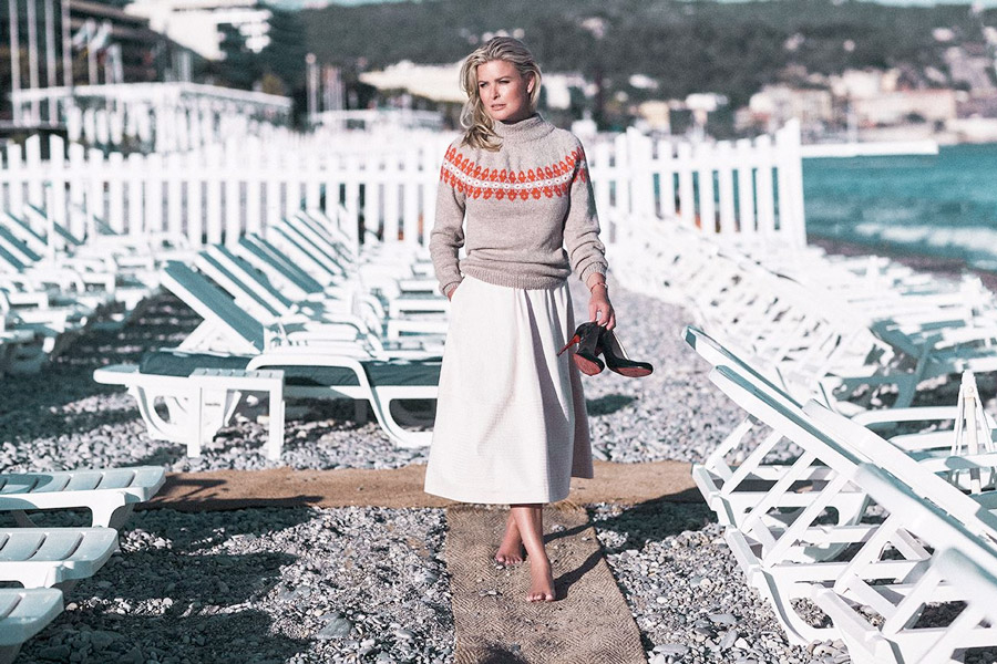 Vendela Kirsebom | Vendela genser og jakke i samarbeid med